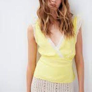 Le Fou Wilfred Brielle Blouse Silk Yellow XS